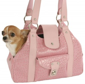 Faux Croc Small Dog Carrier